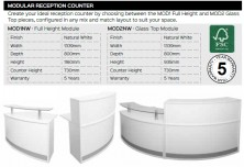 Modular Reception Counter Range And Specifications
