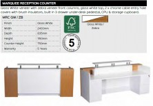 Marquee Reception Counter Range And Specifications