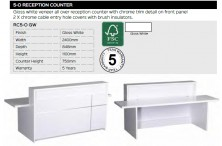 Quick Delivery 5 0 Reception Counter Range And Specifications