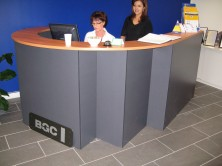 Ecotech Curved Reception Unit. Special Size With Attached Return. Choice MM1 Or MM2 Colours