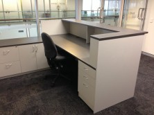 Custom Made. Choice Of Pedestal. Special Return With Drawers And Door And Fitted Drawers To Desk