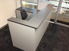 Reception Desk. 300 W Front Counter Top. 150 W Side Counter Top