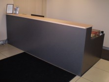 Axis 18 Gable Ended Custom Made Reception Desk. Choice Of MM1 Or MM2 Melamine Range