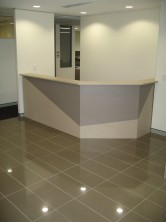 Custom Made 45 Degree Angle Panel Front Reception Desk