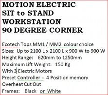 Motion Electric Sit And Stand 90 Degree Corner Workstation