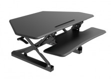 Sylex Arise Deskalator Corner Unit. Sit And Stand. Black Only
