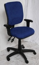 EG400 Square Back With Optional Extra Height Adjustable Arms. Fabric Shown NOT Available