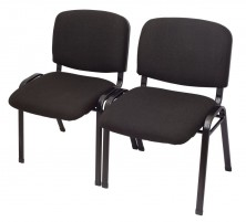 Nova 4 Leg Visitor Chairs Linked Together. Linking And Stackable