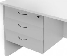 Fixed Pedestal. Optional Extra For Desk. Lockable 3 Single Drawers