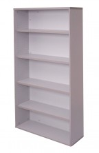 SPBC18 Rapid Vibe Bookcase 900 W X 315 D X 1800 H. 4 Shelves. All Grey