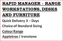 Rapid Manager Range Of Furniture. Quick Delivery 3 Days