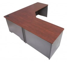 Rapid Manager Corner Workstation VCW186. 1800 X 600 X 1800 X 600. 1 Piece Top