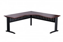 VCWMB186 Rapid Manager Metal Base Corner Workstation. 1800 X 600 X 1800 X 600.Black Metal Span Legs. Metal Perforated Modesty