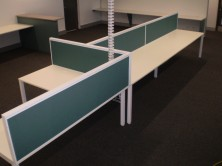 Staxis Desk Top Mounted Screens. 500 High X Various Lengths. Choice Of 35mm And 50mm Thick