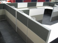 1200 High Screens With Whiteboards. Mixed Fabric Colour Tiles