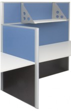Rapid Screen Combination 1250 And 1650 High. Screen Hung Shelf