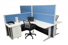 Rapid Screens 1250 And 1650 High. Rapid Span White Workstation