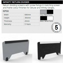 Infinity Return Divider Range And Specifications