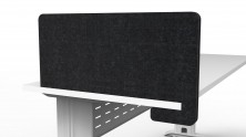 Eco Panel Slide On Screen Divider. 300 High X 650 Long. Black Only