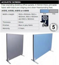 Acoustic Screen Range And Specifications