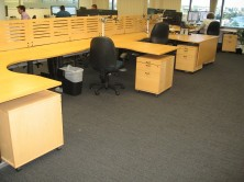 Custom Micro MV Polished Timber Veneer Workstations And Dividing Panels