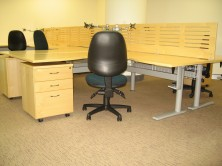Polished Dividing Screens And Workstations On Grey Metal Base