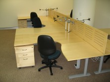 Micro MV 25mm Polished Timber Workstation Screens