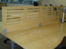 Grooved Polished Timber Dividing Panel