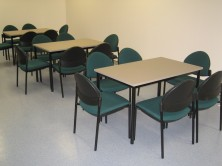 Custom Steel Frame Lunchroom Tables. Choice MM1 MM2 Melamine Colours