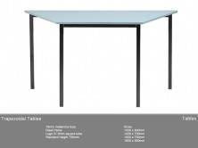 Trapezoidal Table. MM1 MM2 Top. Black Steel Frame