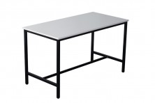 High Bar Rectangle Table 1050 High. Black Powdercoat Frame. 1800 Long X 900.Wide