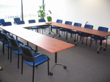 Fold And Store Training Tables With Melamine Tops
