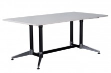 Typhoon Boardroom Table. Black And Chrome Frame. Sizes 1800 X 900, 2400 X 1200