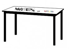 Magnetic And Writable Table Top On Steel Frame
